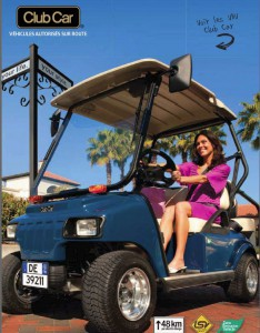 CLUB CAR VEHICLES  AUTORISES SUR ROUTE